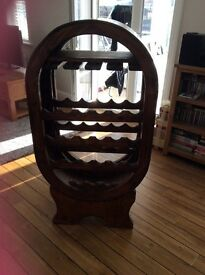 Barrel shaped wine rack