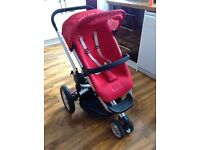 Red Quinny Buzz pushchair in good condition bargain price