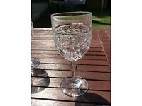 Four Heavy crystal wine glasses