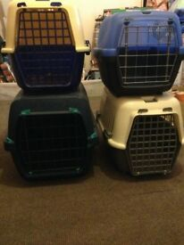 pet carriers x 4