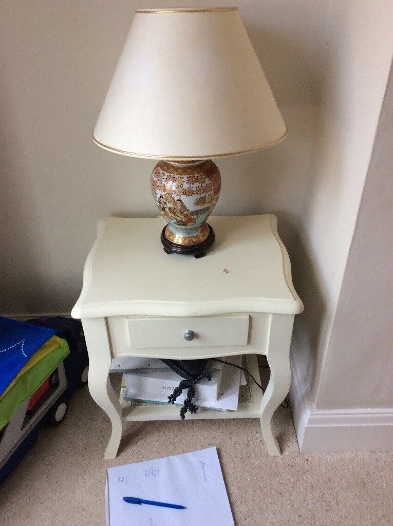 Telephone side table and lamp