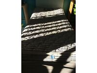 Single bed, trundle bed, mattresses and headboard