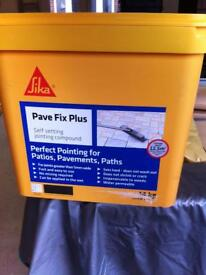 Sika pave fix plus. Grey. Sent setting jointing compound. Wet or dry application