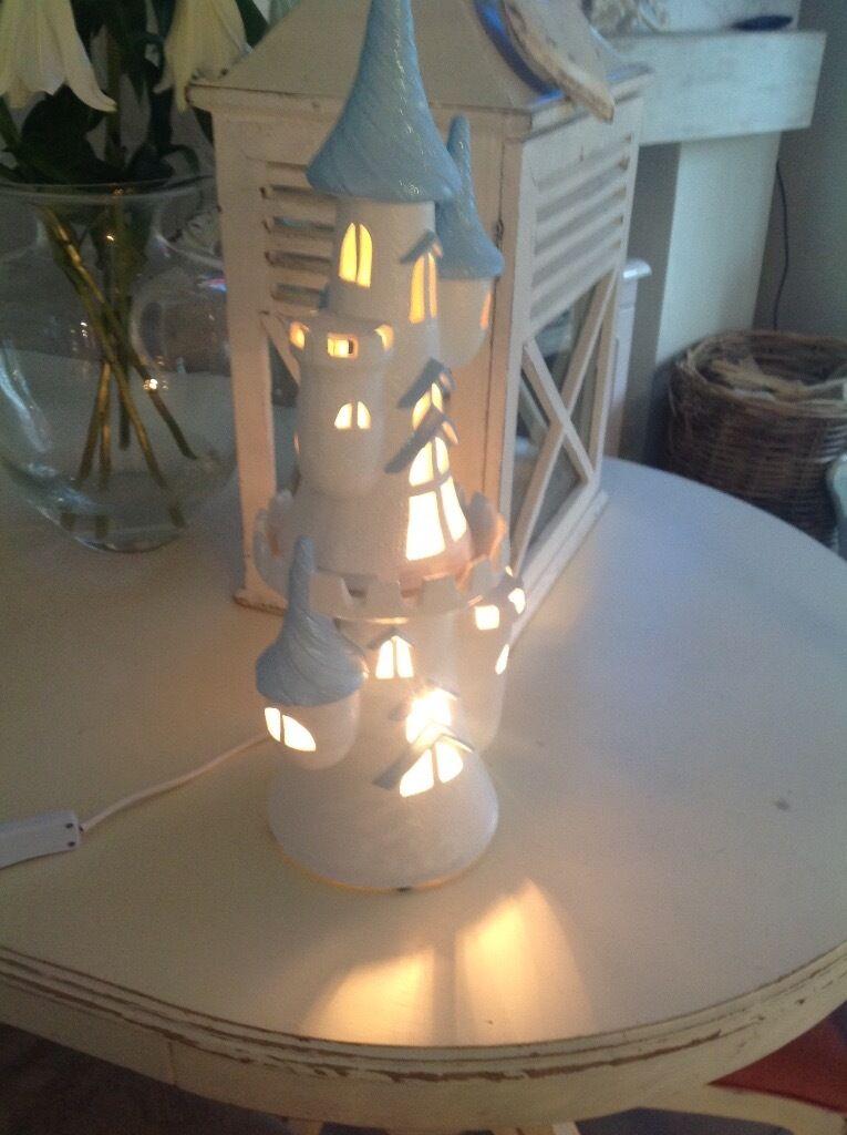 Jan Stewart blue castle lamp | in Hamilton, South Lanarkshire ...