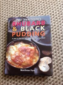 RHUBARB & BLACK PUDDING by Paul Heathcote, cookery book