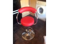 Red faux leather bars Stool.
