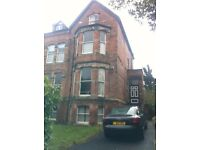 Oxton Village near Birkenhead school. Very large 2nd floor 1 or 2 bed self contained flat with GCH