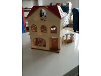 Sylvanian family cedar terrace house