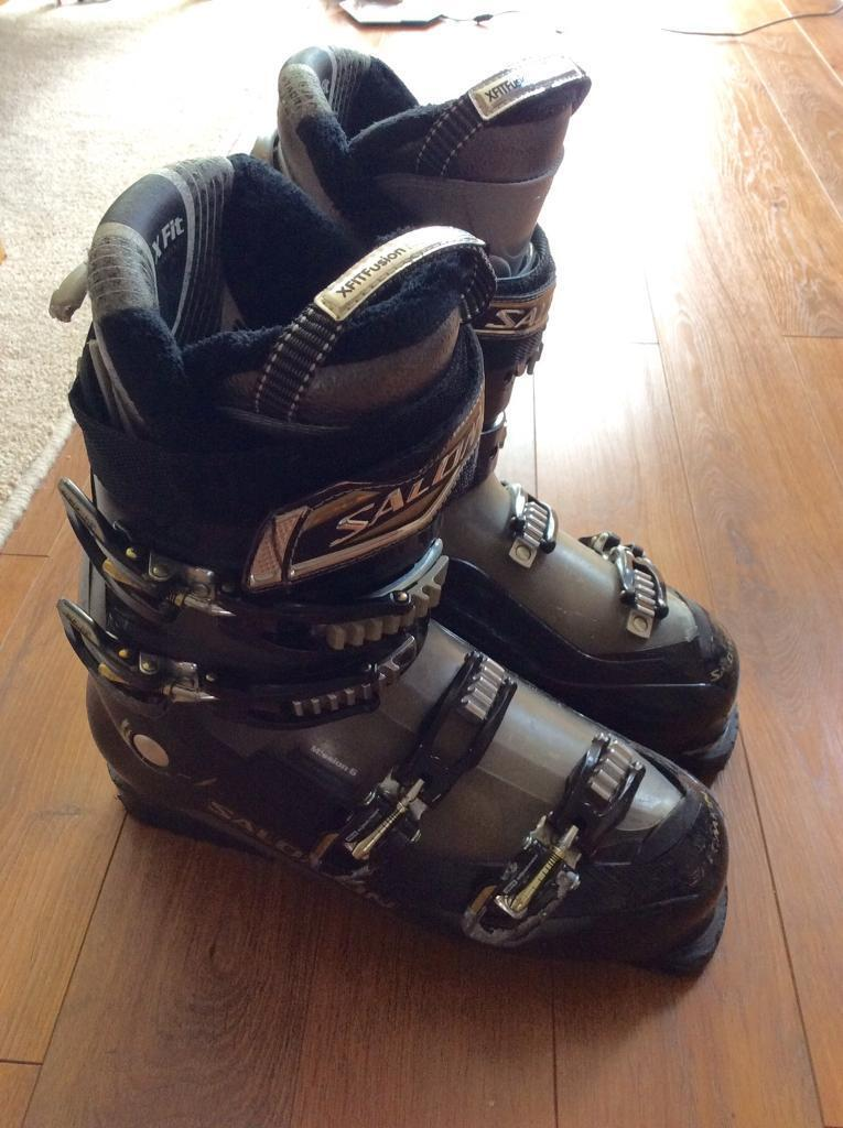 Black Saloman Ski Boots size 29 with boot bag   in Hayling Island ...
