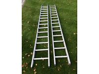 Ladders. Aluminium extension ladders.