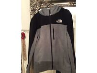 """""""North Face"""" zipped hooded top"""