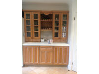 Paula Rosa solid wood Cupboard Doors, limed oak finish. Excellent condition. Complete with hinges.