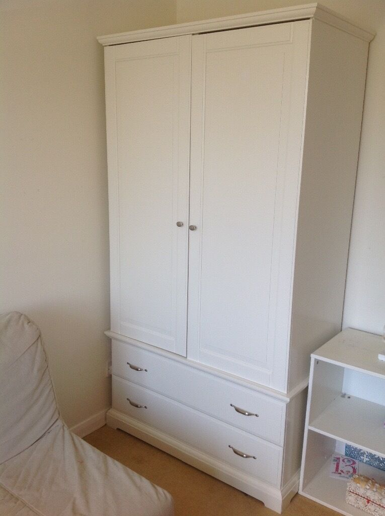 wardrobe white ikea birkeland in maldon essex gumtree. Black Bedroom Furniture Sets. Home Design Ideas