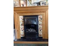 Solid fire surround and electric fire really heavy will take 2 to lift it