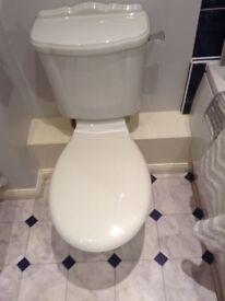 Ideal standard pedestal hand basin and toilet.