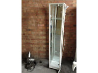 White Glass Display Cabinet