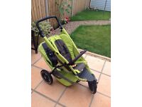 Phil &Teds Green Sport Buggy Stroller and Double Seat