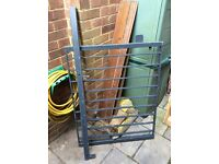 Powder Coated Heavy Metal Steel Entrance Gate with Post. Colour Slate Grey. £50