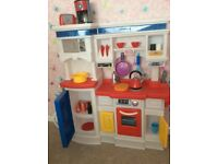 Little tikes kitchen and shopping trolley