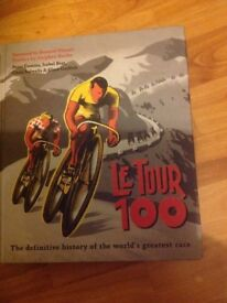 Le Tour 100 hardback book. As new