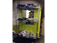 4x chrome storage shelves unit