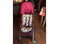 For sale is a Franklies Mamas & Papas Pushchair Stroller with rain cover
