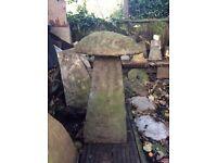 Garden saddle stone ,mushroom