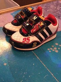 Disney cars adidas trainers size 6k