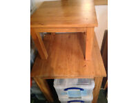 Two Oak Wood Tables - Viewings Accepted