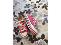 Converse platforms size 4 worn once