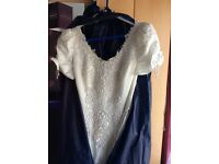 Full length wedding dress 10/12 short sleeved