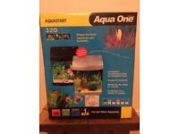 Aqua One AquaStart 320 Aquarium with accessories.