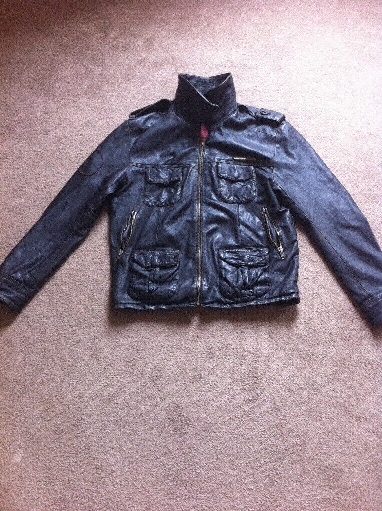 great condition nappa leather jacket by Superdry