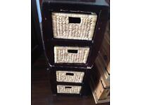Apothecary style cabinet x3 one large two small