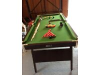 Riley 6x3 folding leg snooker table