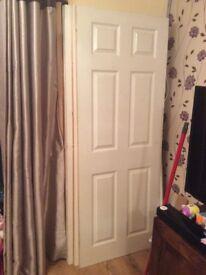 4 internal white doors and chrome furniture
