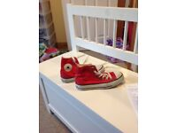 Girls red CONVERSE boots. Size3