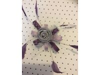 Purple,lilac and silver fascinator