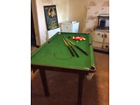 Pool table (perfect for bored kids on summer holiday)