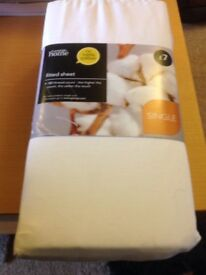 George home cream single sheet