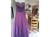 Beautiful prom dress size xs worn once and dry cleaned