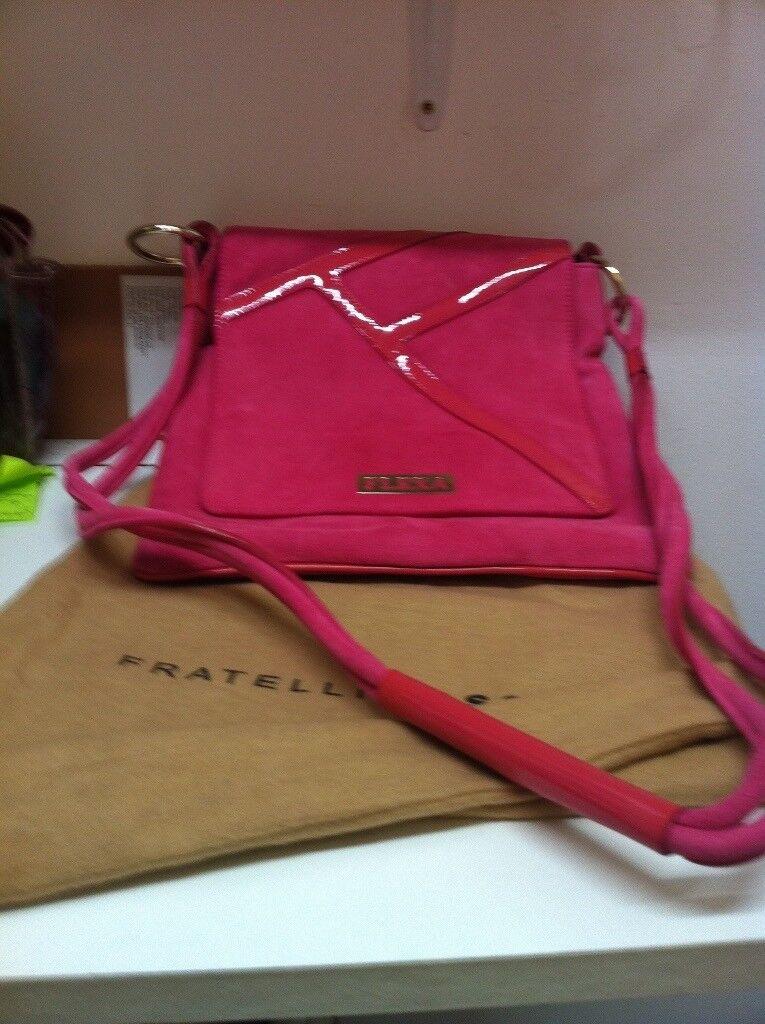 Italian Designer Fratelli Rossetti Fuchsia Pink New Handbag  61d2ef1d07a89