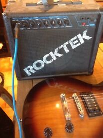 Epiphone guitar, Rocktek amp and guitar lead