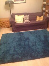 Large Next Teal rug 170x230cm