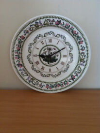 Portmeirion pottery - collectable china items - see details - various clock vases bowls etc