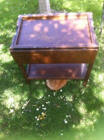 1960/1970's Orginal Trolley/Card Table in average condition.