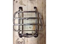 Vespa gts front rack and rear grab rail original