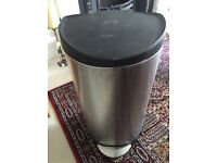 Simply Human 30 litre semi round stainless steel pedal bin