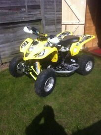 For sale is my ltz400 on road ad full engin reabuild with reseat full v5 and pauper work