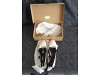 Brand new in box nude ballet pumps with ankle straps size 8 from Next